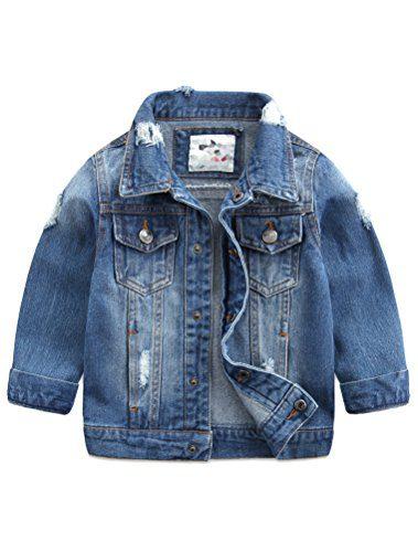 Baby Boys' Basic Denim Jacket Button Down Jeans Jacket