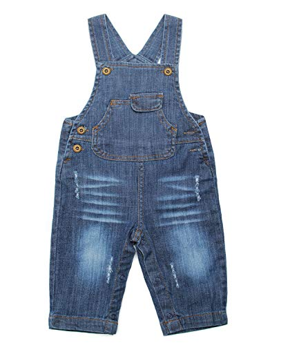 ZL MAGIC Baby & Little Boy/Girl Soft Washed Denim Bib Overalls