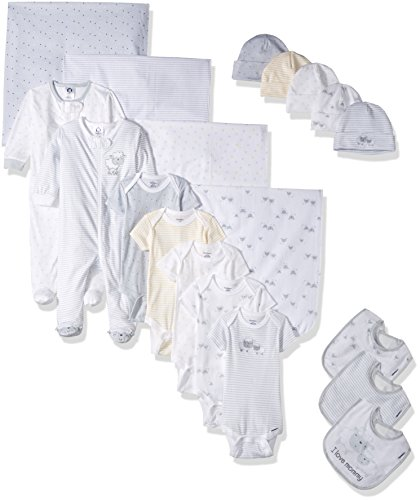 Gerber Baby Girls 19 Piece Essentials Gift Set, Lil' Lamb