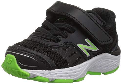 New Balance Boys' 680v5 Hook and Loop Running Shoe
