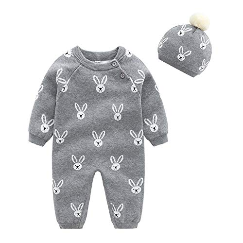 JooNeng Baby Newborn Romper Cable Knitted Sweater