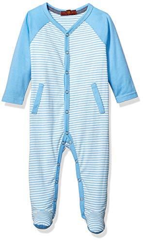 7 For All Mankind Kids Baby Footie, Little Boy Blue Stripe 0-3 Months