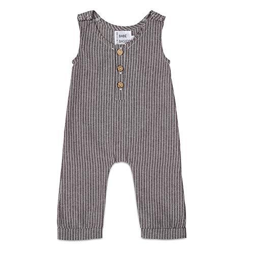 Babe Basics Linen Baby Romper | Baby Boy Fall Romper