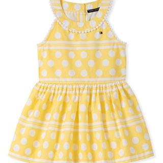 Tommy Hilfiger Baby Girls Dress, Lemon Drop Print 12M