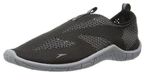Speedo Water Shoes-Surf Knit Skate, Black/Neutral Grey 4