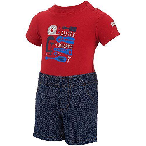 Carhartt Baby Boys' Little Sets, Helper Worn in Blue Wash, 6M