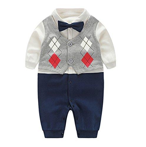 Fairy Baby Newborn Boy's Gentleman Romper Outfit