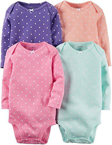 Carter's Baby Girls' Multi-pk Bodysuits, Dot, 3 Months