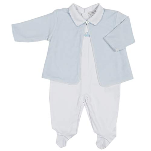 Kissy Kissy Baby Boys Royalty Footie W/Collar and Velour Jacket Set