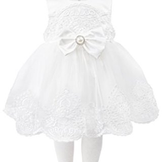 T.F. Taffy Taffy Baby Girl Christening Baptism Embroidered White Dress