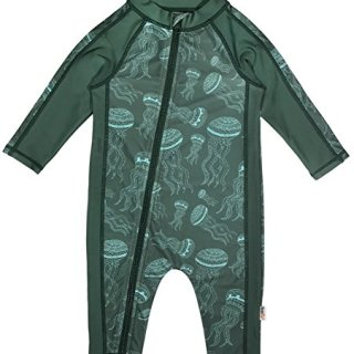 SwimZip Little Boy Long Sleeve Sunsuit with UPF 50 Sun Protection