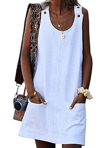 Asvivid Womens Casual Crew Neck Sleeveless Summer