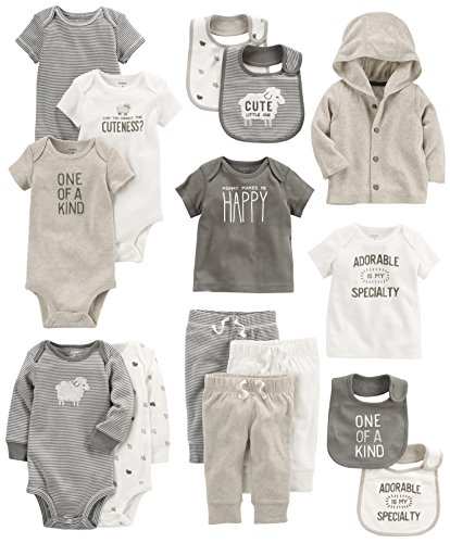 Carter's Baby 15-Piece Basic Essentials Set, Sheep 12 Months