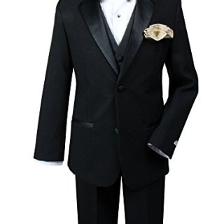 Spring Notion Little Boys' Tuxedo Set with Bow Tie