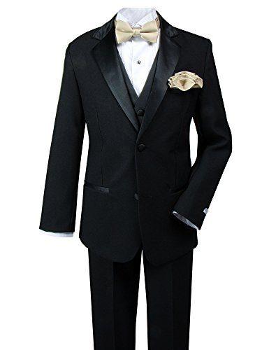 Spring Notion Little Boys' Tuxedo Set with Bow Tie