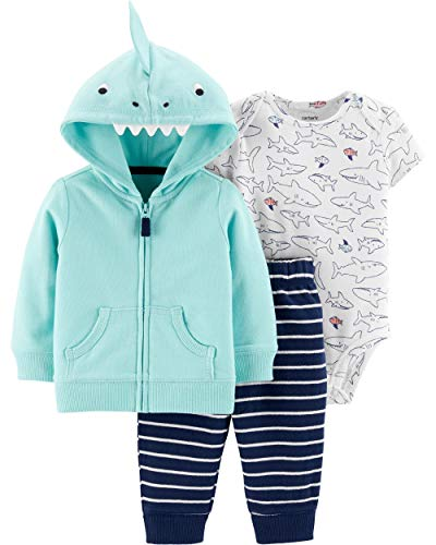 Carter's Baby Boys` 3-Piece Little Jacket Set, Shark, 12 Months