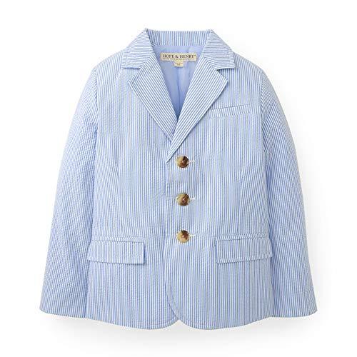 Hope & Henry Boys Blue Seersucker Suit Jacket
