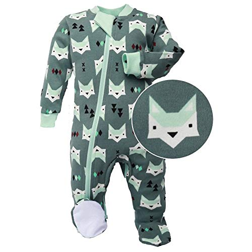 ZippyJamz Organic Baby Footed PJs w/Inseam Zipper