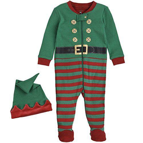 Petit Lem Holiday Baby Sleeper Pyjama & Hat In Knit