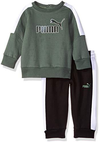 PUMA Baby Boys' Pullover Fleece Set, Laurel Wreath, 18M