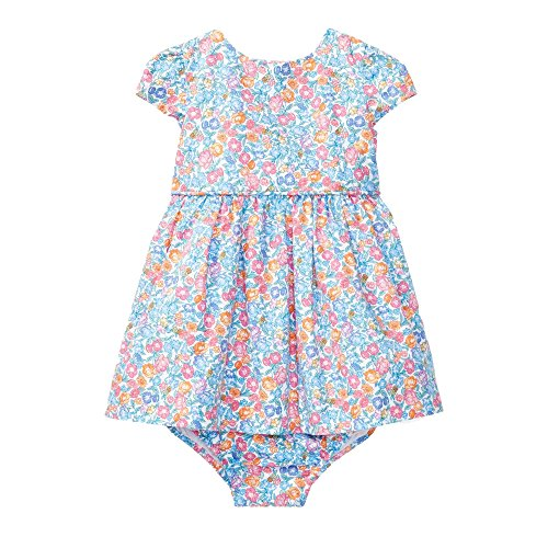 RALPH LAUREN Baby Girl Floral Cotton Dress & Bloomer