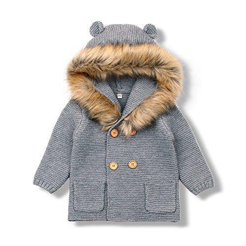 MiMiXiong Baby Boy Cardigan Sweater Cartoon Hoodies Long Sleeve