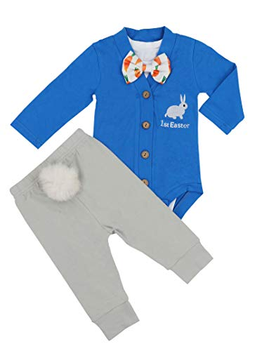 Baby Boys Girls 3PCs Sets My 1st Easter Romper Long Bodysuit
