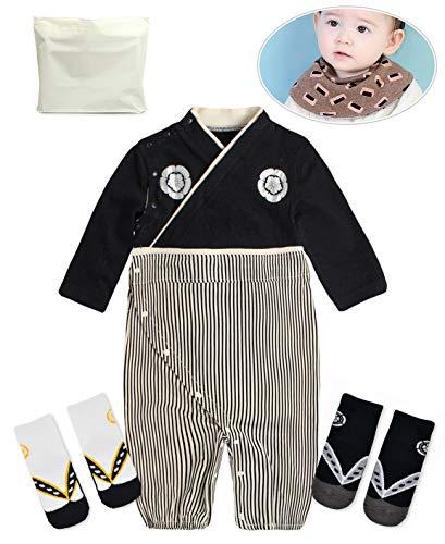 Baby Kids boy Japanese Hakama Style Coverall Kimono Robe
