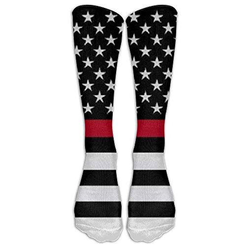 Snabeats Firefighter Red Line Flags.jpg Fashion Knee High Graduated