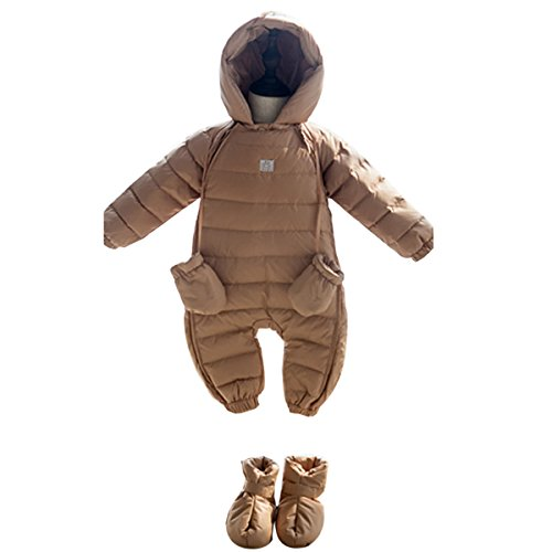 Bebone Newborn Baby Hooded Winter Puffer Snowsuit