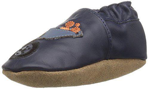 Robeez Boys' Elephant Eddie Crib Shoe Big Dig Navy