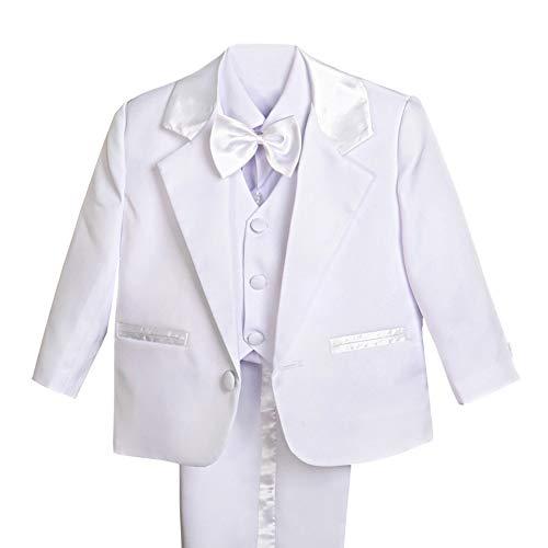 Dressy Daisy Baby Boy' 5 Pcs Set Formal Tuxedo Suits
