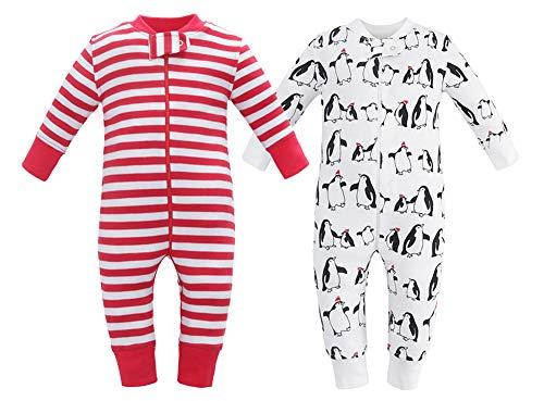 Owlivia Organic Cotton Baby Boy Girl 2 Pack Zip up Sleep N Play