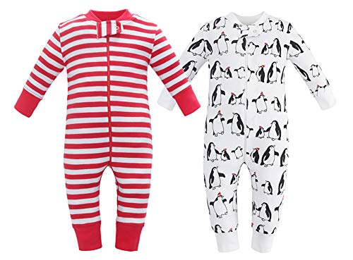 Owlivia Organic Cotton Baby Boy Girl 2 Pack Zip up Sleep N Play