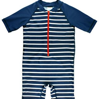 RuggedButts Baby/Toddler Boys Navy Stripe One Piece
