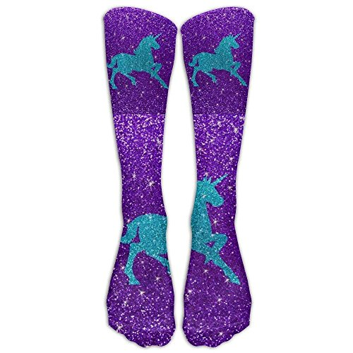 Snabeats Glitter Unicorn Knee High Graduated Compression Socks