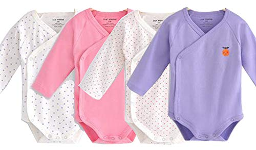 Unisex-Baby Long Sleeves Kimono Onsies Cotton Baby