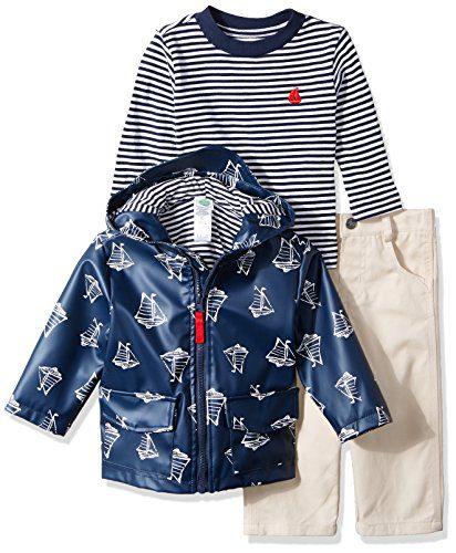 Little Me Baby Boys' 3 Piece Jacket and Pants Set