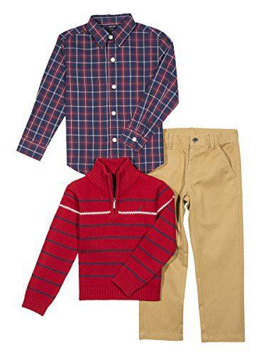 Nautica Baby Boys' Zip Sweater, Long Sleeve Shirt