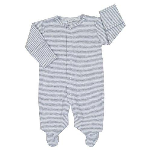 Kissy Kissy Baby Kissy Essentials Stripe Footie, gray Newborn