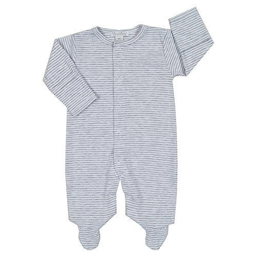 Kissy Kissy Baby Kissy Essentials Stripe Footie, gray Newborn