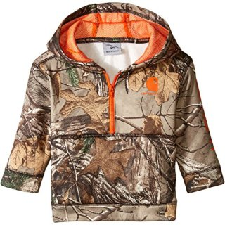 Carhartt Baby Boys' Little 1/2 Zip Sweatshirt, Realtree Xtra Camo Half 3M