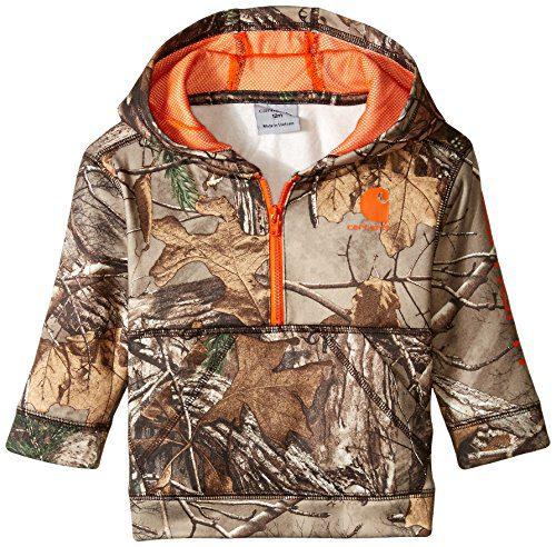 Carhartt Baby Boys' Little 1/2 Zip Sweatshirt, Realtree Xtra Camo Half 3M