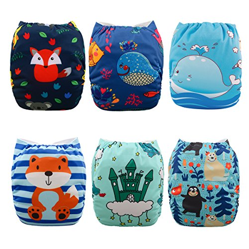 Babygoal Cloth Diapers for Boys, Adjustable Reusable Nappy