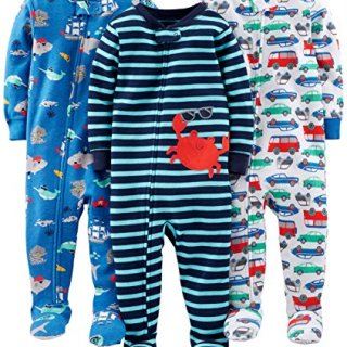 Simple Joys by Carter's Baby Boys' 3-Pack Snug-Fit Footed Cotton Pajamas
