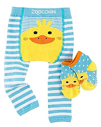 ZOOCCHINI Baby Non-Skid Comfort Crawler Leggings & Socks Set