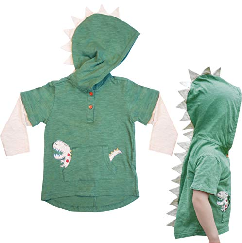 Mini Jiji Green T-Rex Dinosaur Toddler Hoodie