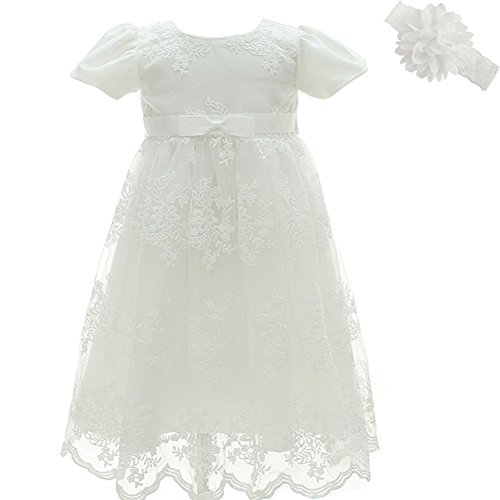 AHAHA Baptism Gowns for Baby Girls Princess Wedding Dress