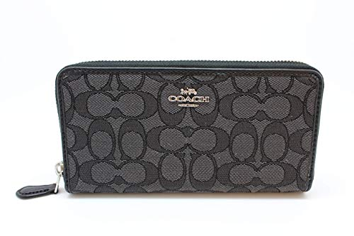 Coach Accordion Zip Wallet in Outline Signature
