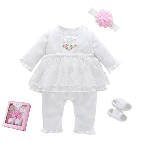 Baby Brielle Layette Onesie with Matching Headband and Socks
